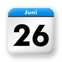 26. Juni - June 26