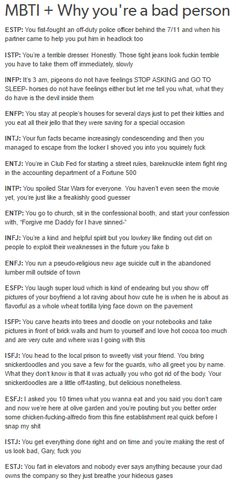 What? But wtf, animals DO have feelings. Just stfu you stupid ignorant mbti thing and don't tell me I'm bad.