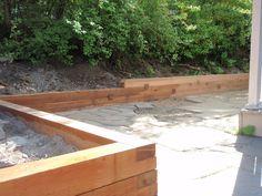 Cedar Retaining Garden Wall