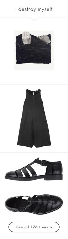 """""""i destroy myself"""" by haomind ❤ liked on Polyvore featuring photos, pictures, jumpsuits, rompers, dresses, summer rompers, linen romper, james perse, playsuit romper and summer romper"""