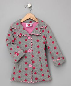 My daughter loves anything with polka-dots.  The Chatti Patti - Frenchy Polka-Dot Jacket is from #zulily.  Perfect for #fall!