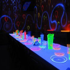 Create this magical glowing birthday theme for your kid's party! http://www.virginiatoy.com/