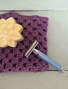 Crochet shower washcloths.
