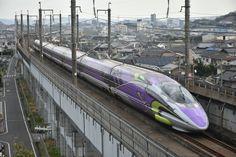 やっと会えた「エバ新幹線」 晴れの上天気の時に再チャレンジだ〜〜!d(^_^o)