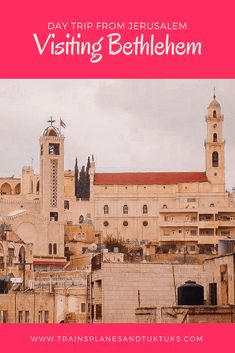 How to do a day trip to Bethlehem from Jerusalem A trip to Bethlehem is the easiest way to see the West Bank -- and a few bucket-list sights -- when you travel in Israel and the Palestinian Territories. Places To Travel, Travel Destinations, Places To Go, Jamaica Travel, Asia Travel, Palestine, Middle East Destinations, Jordan Travel, Travel Guides
