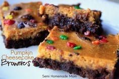 Semi Homemade Mom: Pumpkin Cheesecake Brownies