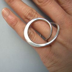 silver forged ring by Yuki Kamiya