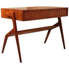 Italian Midcentury Laminate Writing Desk Table And Mid Century