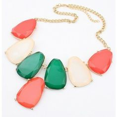 Exaggerated Hit Color Elliptical Hot Fashion Necklace