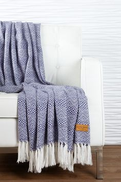 "Kanto Home Alpaca Old Violet/Ivory Paracas Pattern Throw - 54"" x 63"" by Kanto Home on @HauteLook"