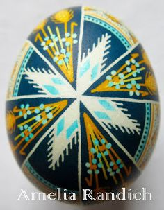 Saving the World: One Egg at a Time: 40 Days of Pysanky 20: Windmill Wheat