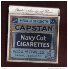 Capstan cigarettes - I think it was Mr Percy our old primary school caretaker who smoked this brand and gave me an empty packet.
