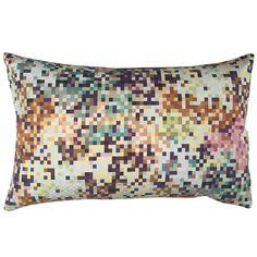 Missoni Cushion Pixel Aqua and Copper 50x30. Buy online.