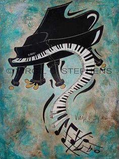 CONTEMPORARY PAINTING, GICLEE PRINT, PIANO ART, OIL PAINTING, JAZZ   Virgil_C_Stephens-Notevena_Gallery - Print on ArtFi