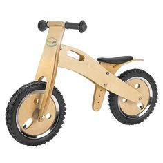 Kids Wooden Training Bike ~ Definitely need to get this balance bike for my son!