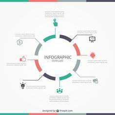 Infographie … Infographic Plus Free Infographic Templates, Circle Infographic, Timeline Infographic, Creative Infographic, Infographic Website, Process Infographic, Templates Free, Graphisches Design, Chart Design