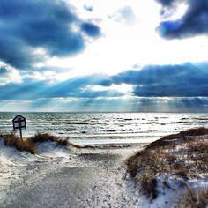 Falsterbo beach, Sweden. January 25, 2014