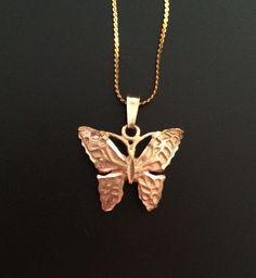 14K Gold Butterfly Bracelet by Mybestfinds on Etsy