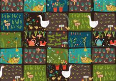Surface pattern design - kitchen garden