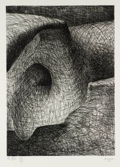 Henry Moore OM, CH 'Elephant Skull Plate XVI', 1970 © The Henry Moore Foundation, All Rights Reserved, DACS 2014