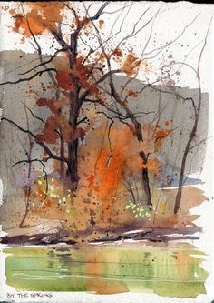 I was recently asked to do a short article for Watercolor Artist magazine for a . I was recently asked to do a short article for Watercolor Artist magazine for a . Watercolor Landscape Paintings, Watercolor Trees, Watercolor Artists, Abstract Watercolor, Landscape Art, Abstract Art, Simple Watercolor, Watercolor Landscape Tutorial, Pastel Paintings