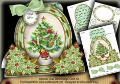 Christmas Tree Special Large Oval Card Mini Kit on Craftsuprint - Add To Basket!