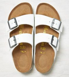 White Birkenstock Arizona Sandal