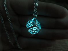 Cyan Wish tree Glowing Necklace , The tree of the Forest Glowing Necklace, Glowing Jewelry,Glow Pendant Necklace by KarlWorldArt on Etsy