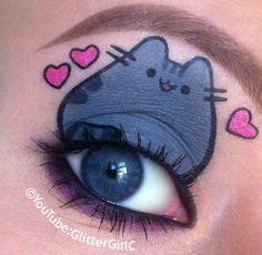 Pusheen the cat makeup. YouTube channel: https://www.youtube.com/user/GlitterGirlC