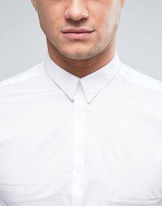 Plain White Shirt, White Shirts, Asos Online Shopping, Online Shopping Clothes, Latest Fashion Clothes, Men Fashion, New Look, Casual Shirts, Slim