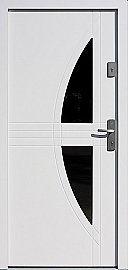 Drzwi zewnętrzne nowoczesne model 495,3 w kolorze białe