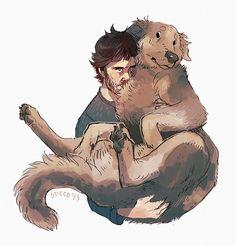 csticcoart:      Will Graham fanart. Will loves dog.