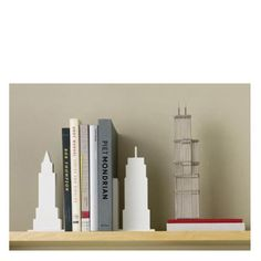 Love these bookends!  The buildings are modeled from the New York City skyline. $39.95