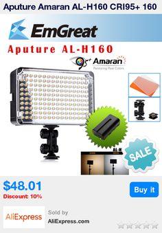 Aputure Amaran AL-H160 CRI95+ 160 PCS LED Video Studio Light Camera Photography Lighting + NP-F550 Rechargeable Battery * Pub Date: 13:56 Apr 21 2017