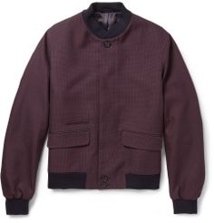 Alexander McQueen - Patterned Woven-Cotton Bomber Jacket | MR PORTER