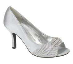 NEW LADIES WOMENS SILVER SATIN WEDDING BRIDAL EVENING COURT SHOES 3 4 5 6 7 8 | eBay