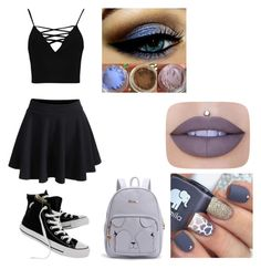 """Today i guess"" by xxfallen-outlooksxx on Polyvore featuring WithChic, Boohoo, Converse and Jeffree Star"