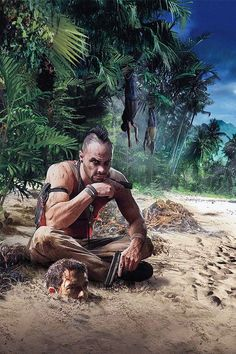 View an image titled 'Vaas & Jason Art' in our Far Cry 3 art gallery featuring official character designs, concept art, and promo pictures. Far Cry Game, Far Cry 5, I Am Game, V Games, Best Games, Games To Play, First Person Shooter Games, Arte Hip Hop, Mundo Dos Games