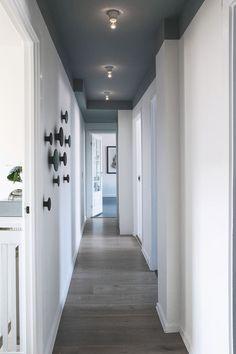 The accent wall design 1 House Design, Interior, Hallway Paint, Accent Wall Designs, House Interior, Hallway Designs, Corridor Design, Home Interior Design, Wall Design