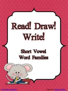 Read! Draw! Write! is designed to be a fun way to get students engaged in reading and comprehending.   The pages can be used as morning work, revie...