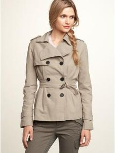 I really can't decide between a long or short trench. I really like this one though.