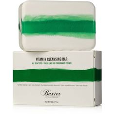 Baxter of California Vitamin Cleansing Bar, Italian Lime & Pomegranate ($17) ❤ liked on Polyvore featuring beauty products, bath & body products, body cleansers, no color and baxter of california