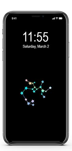 Free Dainty Astrology Sign iPhone Wallpapers | Ginger and Ivory