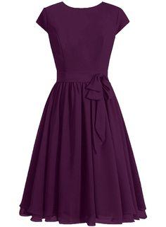 DaaDress Women's Scoop Neckline Cap Sleeves Short Bridesmaid Dress Prom Dresses * Remarkable product available now. : Bridesmaid Dresses