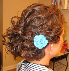 Low Updo on Curly Hair