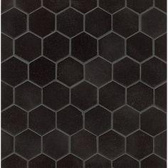 Absolute Black Granite Hexagon Mosaic Polished (Box of 10 sheets)