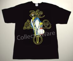 LED ZEPPELIN promo art 6 CUSTOM ART UNIQUE T-SHIRT   Each T-shirt is individually hand-painted, a true and unique work of art indeed!  To order this, or design your own custom T-shirt, please contact us at info@collectorware.com, or visit http://www.collectorware.com/tees-ledzeppelin_andrelated.htm