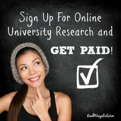 Sign up for university studies online and get paid!