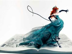 coco rocha appears from the pages of a fairy tale this girl is amazing...