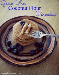 Grain Free Coconut Flour Pancakes   HappyFitMama.com @Happy Fit Mama